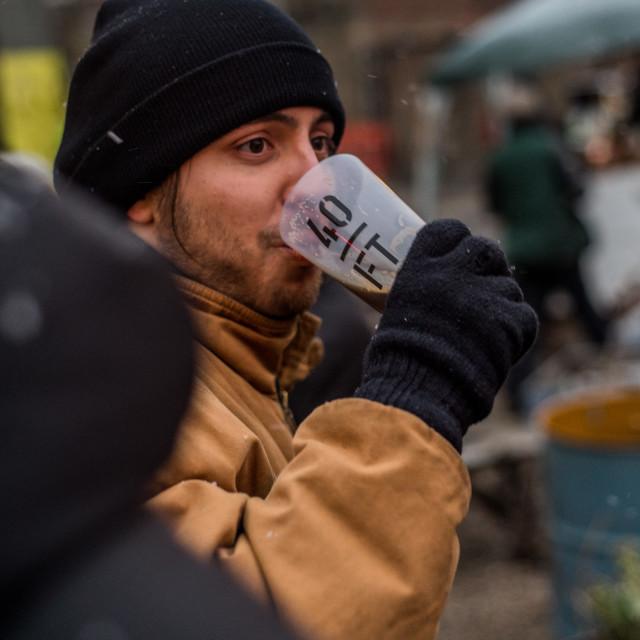 """Beer drinker"" stock image"