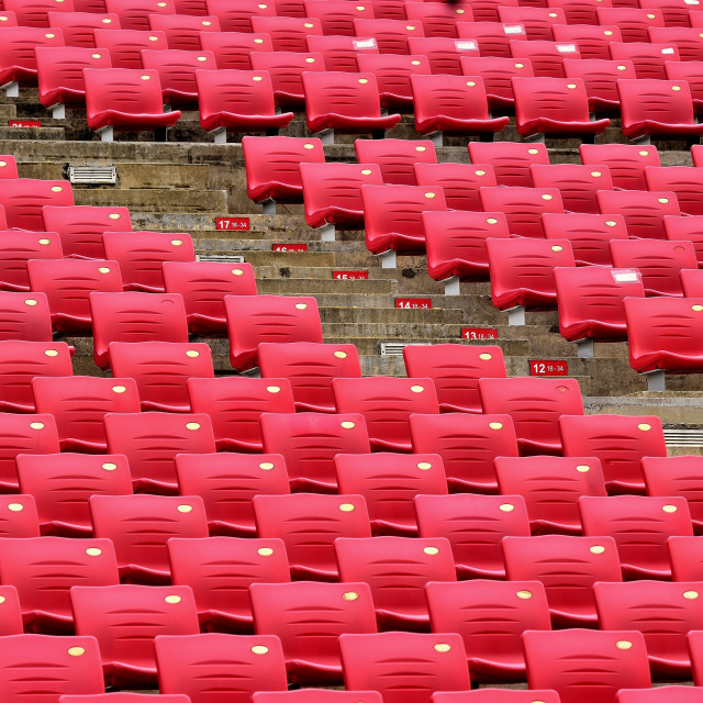 """Pink Stadium Chairs"" stock image"