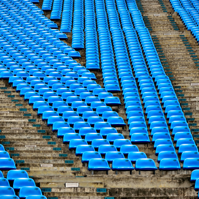 """Blue Stadium Chairs"" stock image"