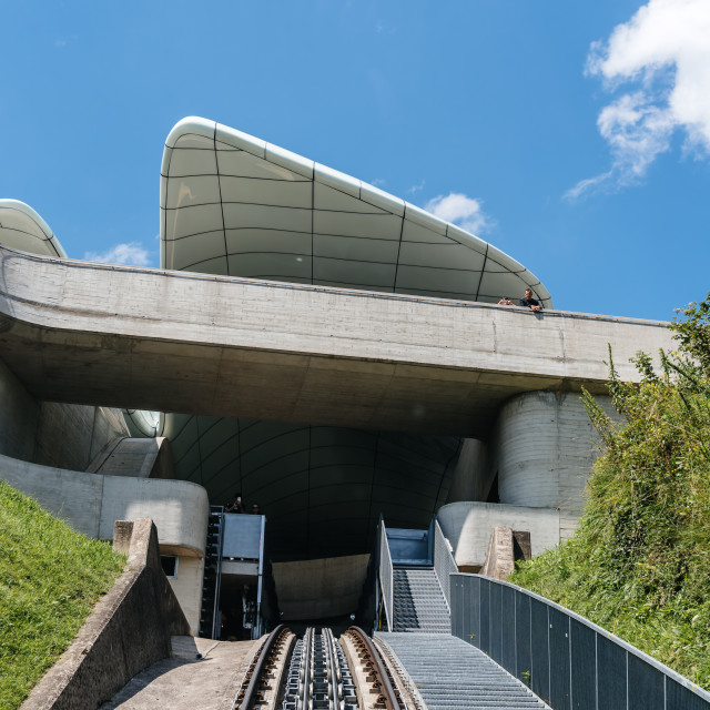 """""""Modern Architecture Funicular Station"""" stock image"""