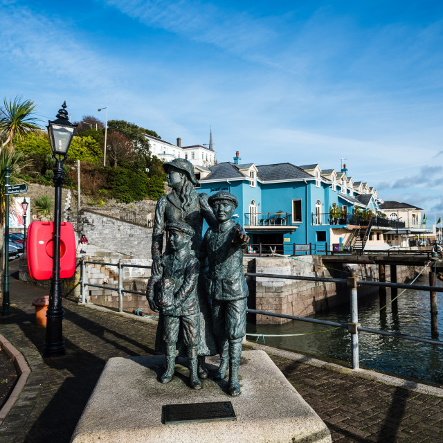 """""""Waterfront and promende of Cobh a sunny morning"""" stock image"""