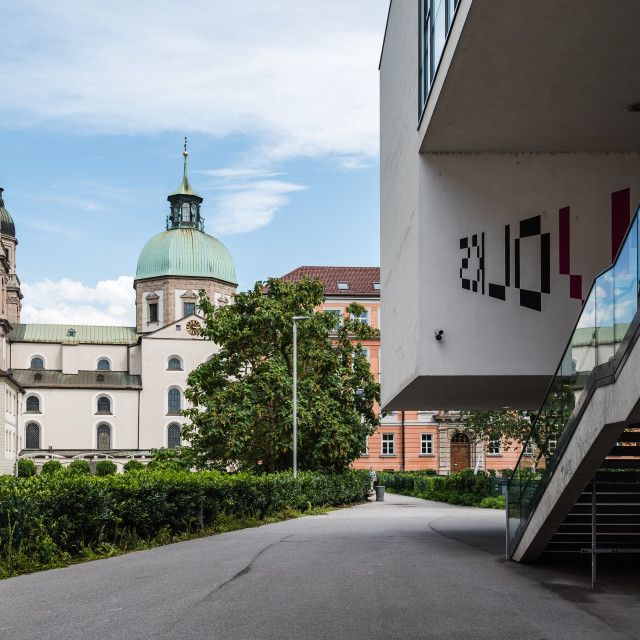 """""""Campus of the University of Innsbruck"""" stock image"""