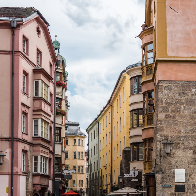 """""""Cathedral square in Innsbruck"""" stock image"""
