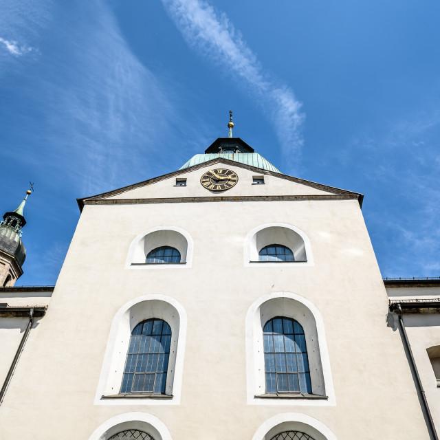 """Jesuitenkirche in Innsbruck."" stock image"