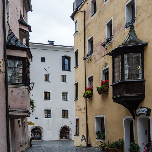 """""""Rattenberg a small town in Tirol"""" stock image"""