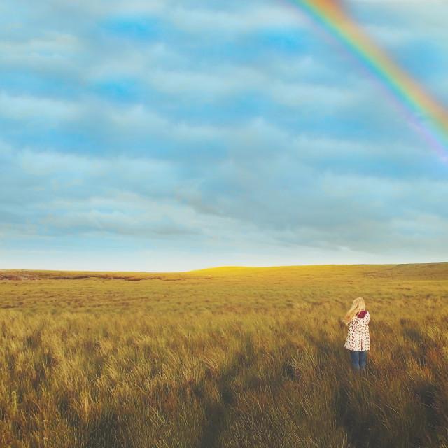 """""""Rainbow girl"""" stock image"""