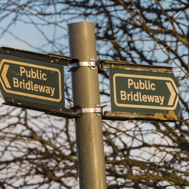 """Bridleway ."" stock image"