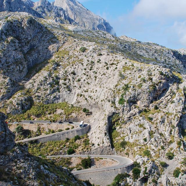 """Road to Sa Calobra, Majorca"" stock image"