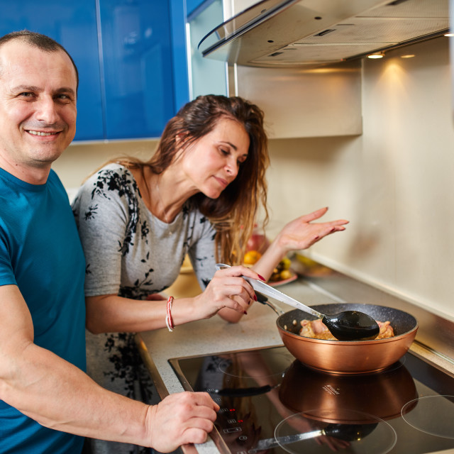 """""""Cooking at home fail"""" stock image"""