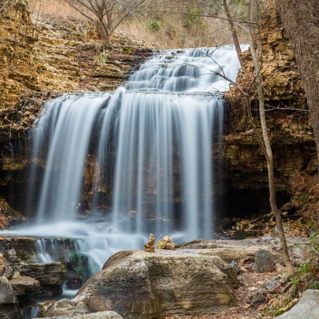 """Tanyard Creek Waterfall"" stock image"