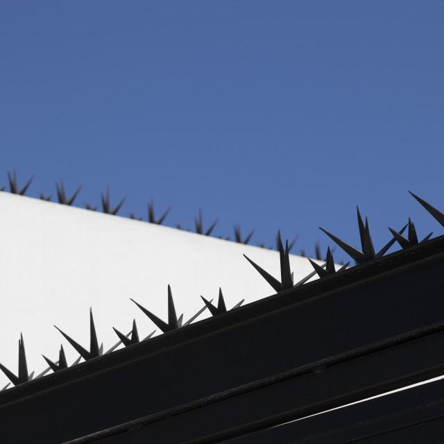 """Anti climb spikes"" stock image"