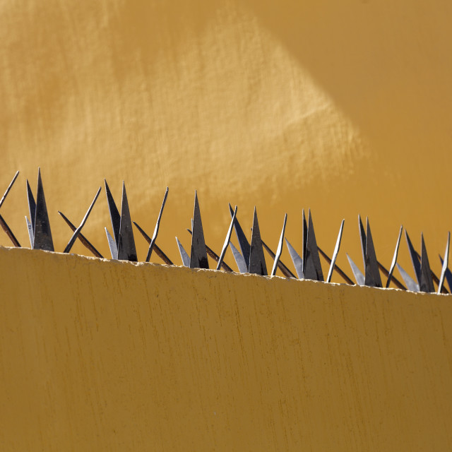 """Security wall spikes"" stock image"