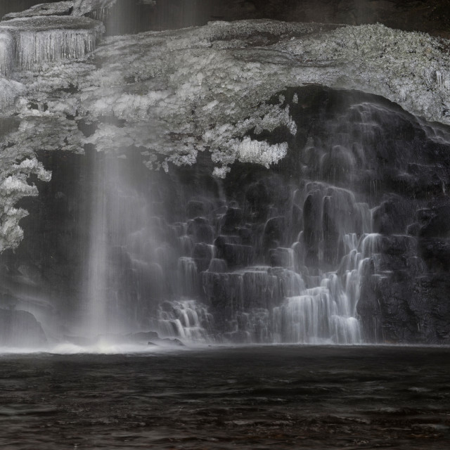 """Henrhyd Falls in Winter"" stock image"