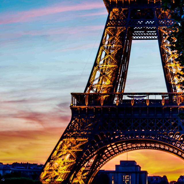 """Eiffel Close Up"" stock image"