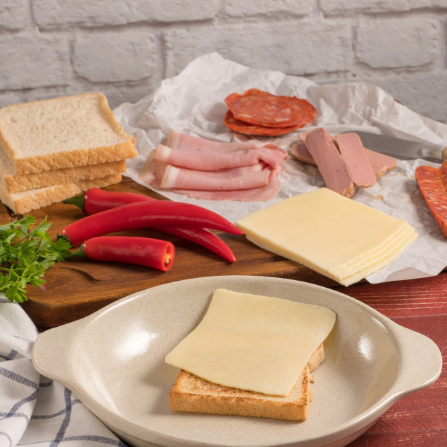 """Francesinha on plate preparations"" stock image"