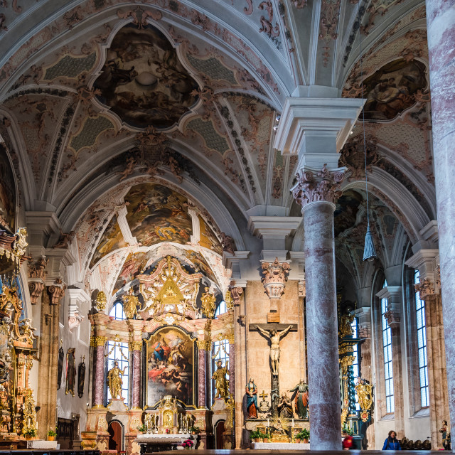 """Interior view of Austrian church"" stock image"