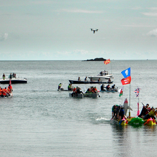 """Raft race, Anglesey"" stock image"
