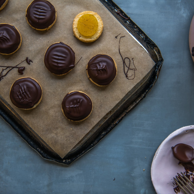 """Chocolate Orange Biscuits"" stock image"