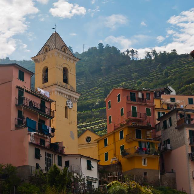 """""""Cinque Terre Housing"""" stock image"""