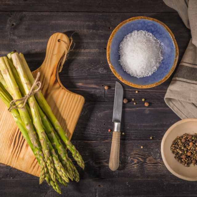 """Fresh green asparagus"" stock image"