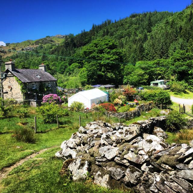 """Cottage in Snowdownia"" stock image"