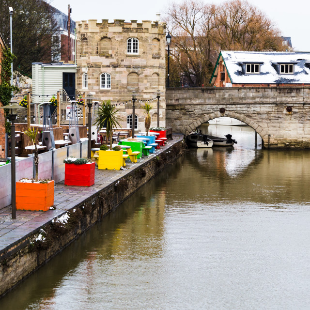 """Colours on the Quay"" stock image"