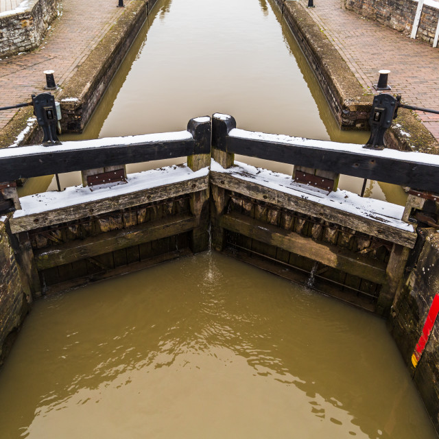 """Lock Gates at Stratford-upon-Avon"" stock image"