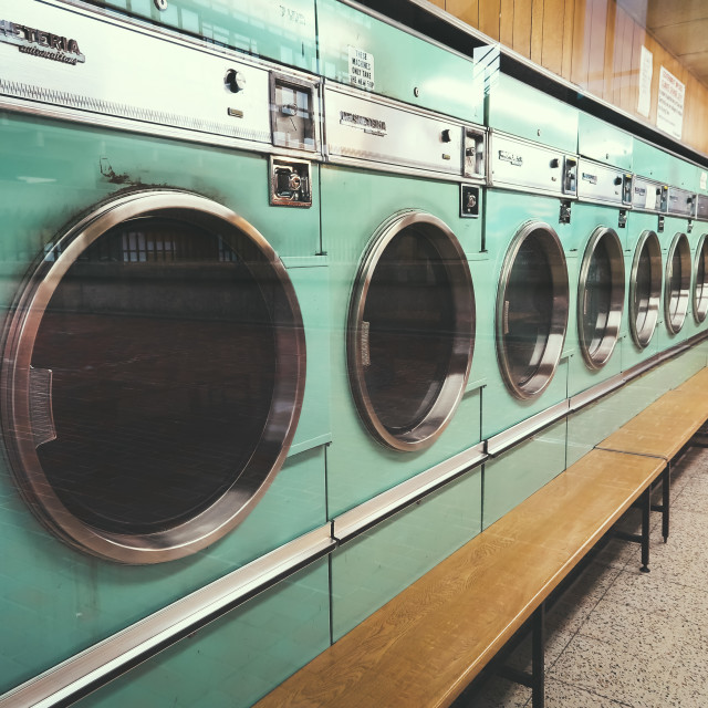 """London Laundromat"" stock image"