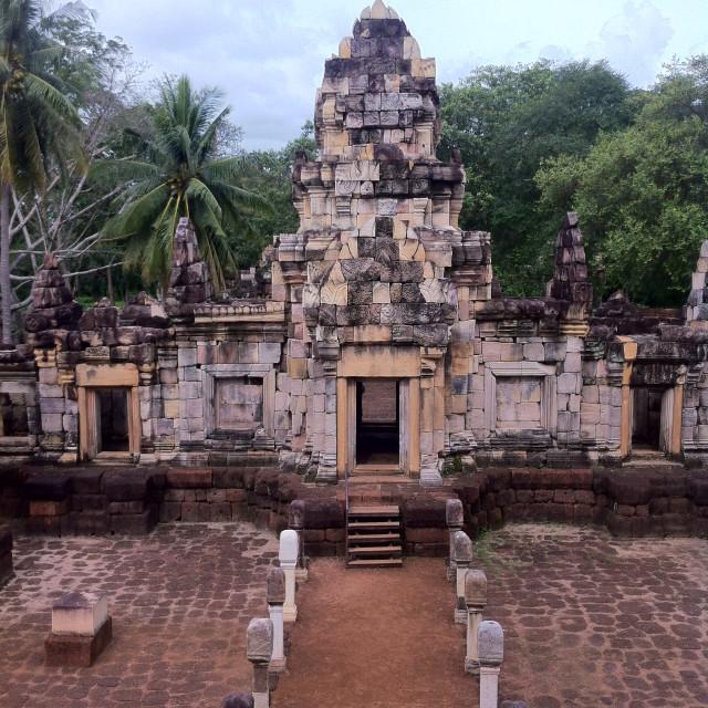 """Sdok Kok Thom, Khmer Temple, Thailand"" stock image"