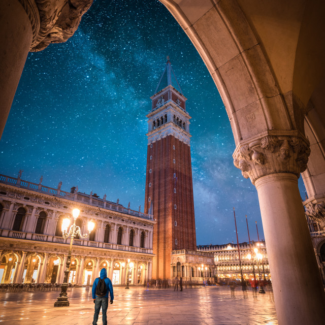 """""""Me at Venice"""" stock image"""