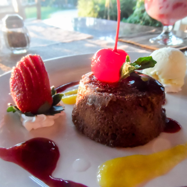 """Chocolate Molten Lava Cake"" stock image"