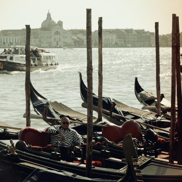 """""""Vintage Gondola"""" stock image"""