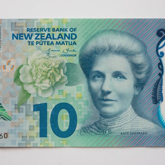 """New Zealand Ten Dollar Note - Front"" stock image"