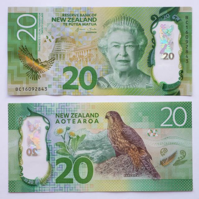 """New Zealand Twenty Dollar Note Front and Back"" stock image"