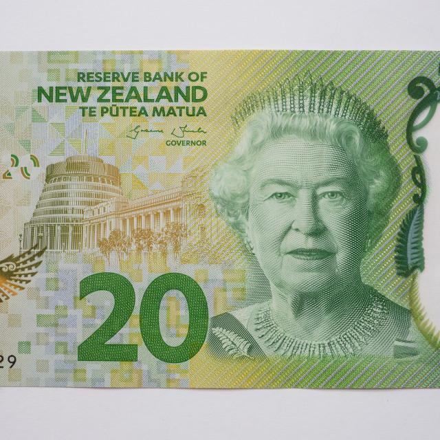 """""""New Zealand Twenty Dollar Note - Front"""" stock image"""