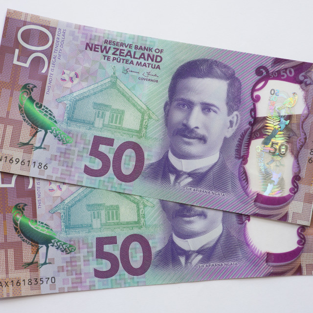 """NZ Fifty Dollar Notes"" stock image"