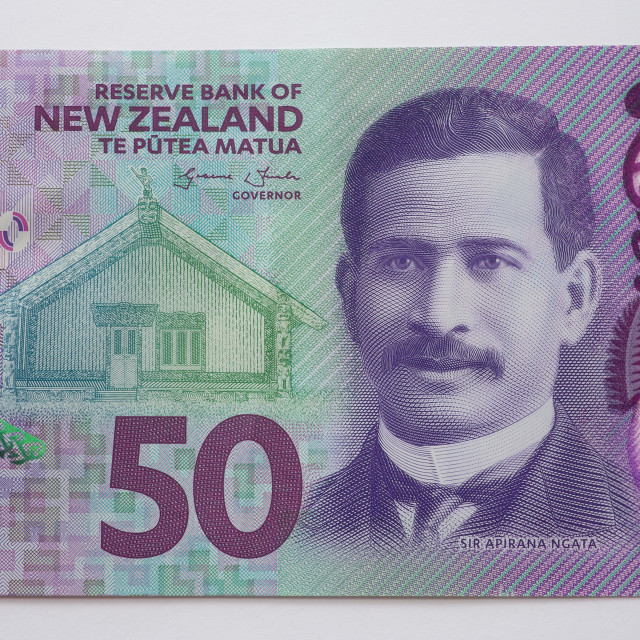 """""""New Zealand Fifty Dollar Note - Front"""" stock image"""