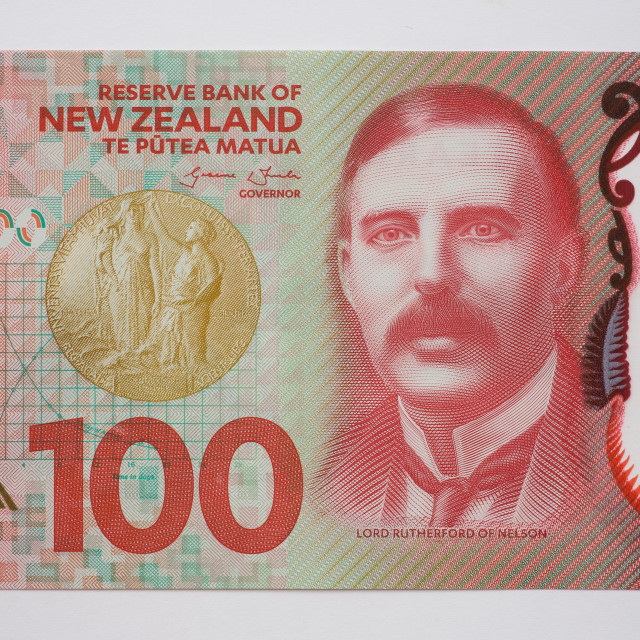 """""""New Zealand One Hundred Dollar Note - Front"""" stock image"""