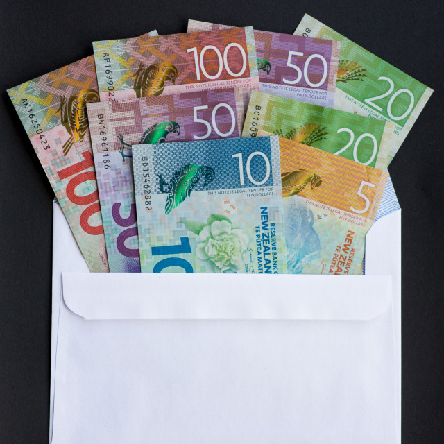 """Envelope of Money"" stock image"