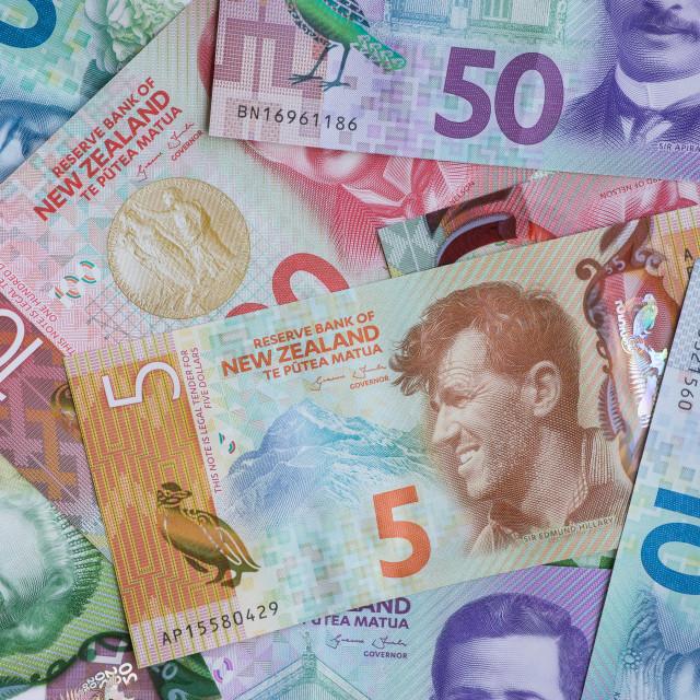 """New Zealand Dollars"" stock image"