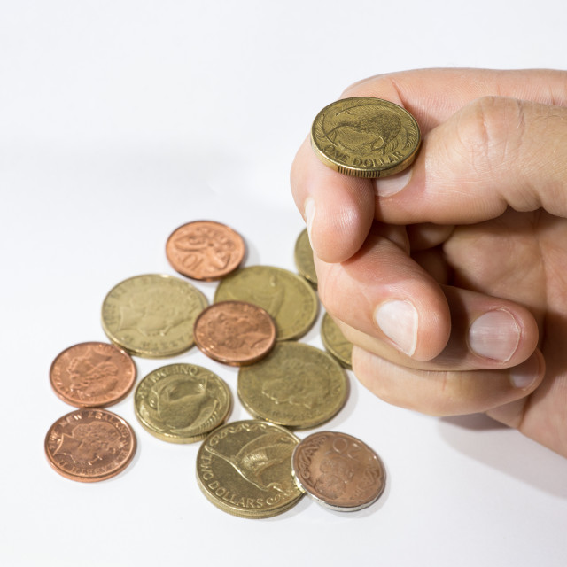"""""""Flipping a coin"""" stock image"""