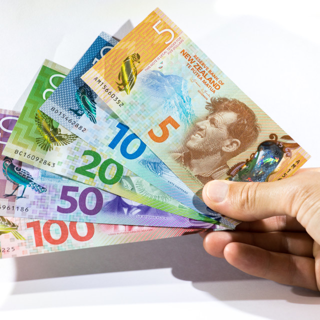 """New Zealand Dollars"" stock image"