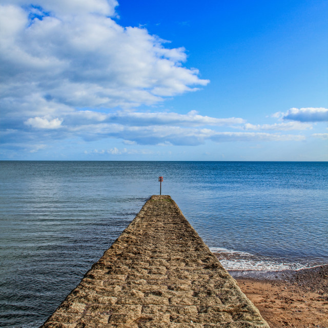 """Dawlish Warren Jetty"" stock image"