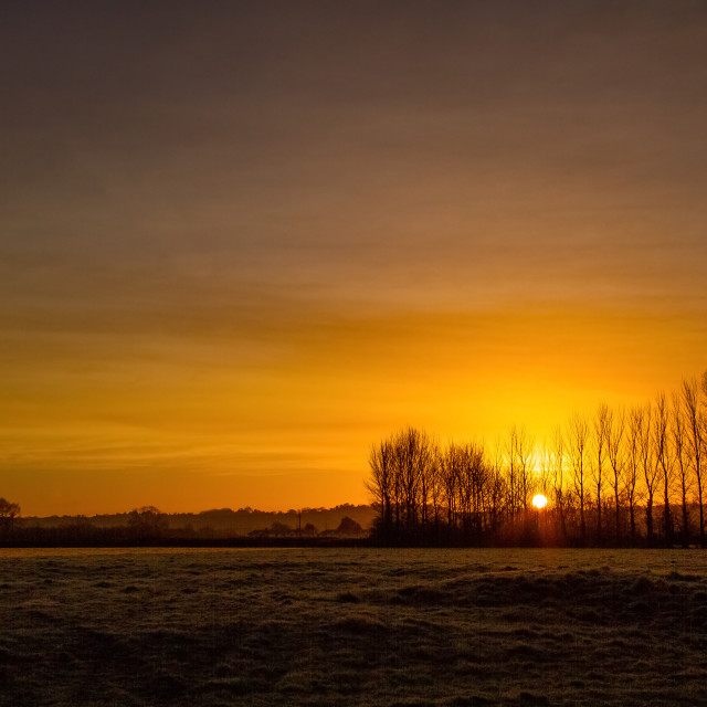 """Pilning Sunrise"" stock image"