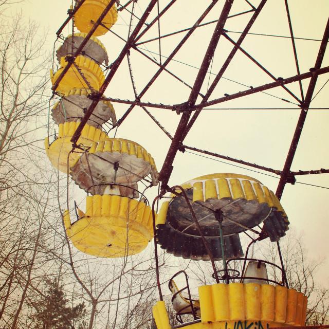 """Ferris wheel Pripyat Chernobyl"" stock image"