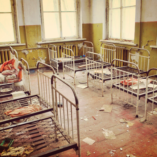 """Abandoned school in Chernobyl"" stock image"