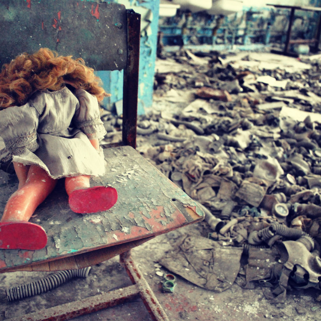"""Abandoned school Pripyat, Chernobyl"" stock image"