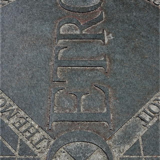 """""""Detroit Ironworks"""" stock image"""