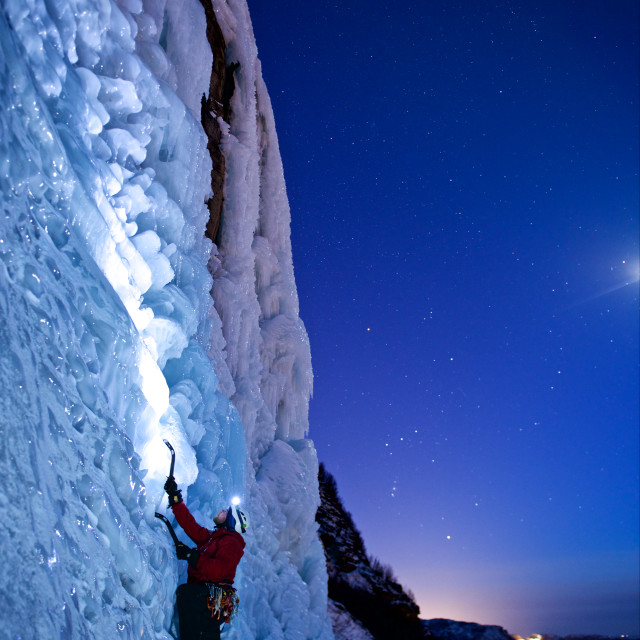 """Ice-climbing"" stock image"