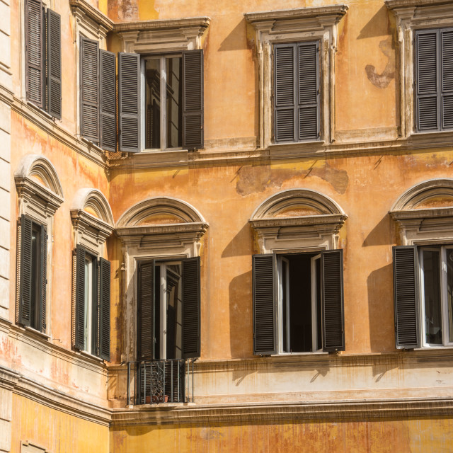 """Italian windows"" stock image"